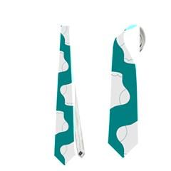 Cute Baby Socks Illustration Pattern Neckties (Two Side)