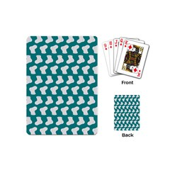 Cute Baby Socks Illustration Pattern Playing Cards (mini)