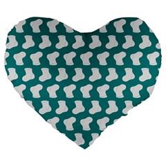 Cute Baby Socks Illustration Pattern Large 19  Premium Flano Heart Shape Cushions