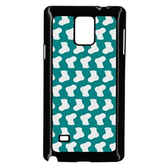 Cute Baby Socks Illustration Pattern Samsung Galaxy Note 4 Case (black)