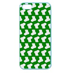 Cute Baby Socks Illustration Pattern Apple Seamless Iphone 5 Case (color)