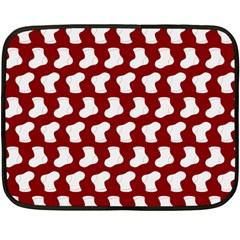 Cute Baby Socks Illustration Pattern Fleece Blanket (Mini)