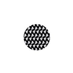 Black And White Cute Baby Socks Illustration Pattern 1  Mini Magnets