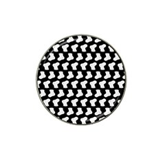 Black And White Cute Baby Socks Illustration Pattern Hat Clip Ball Marker
