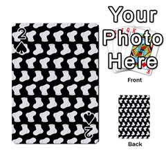 Black And White Cute Baby Socks Illustration Pattern Playing Cards 54 Designs