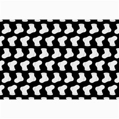 Black And White Cute Baby Socks Illustration Pattern Collage 12  X 18