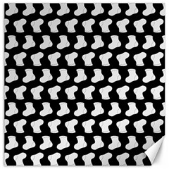 Black And White Cute Baby Socks Illustration Pattern Canvas 20  X 20