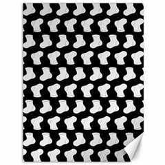 Black And White Cute Baby Socks Illustration Pattern Canvas 36  X 48