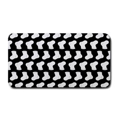 Black And White Cute Baby Socks Illustration Pattern Medium Bar Mats