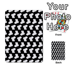 Black And White Cute Baby Socks Illustration Pattern Multi Purpose Cards (rectangle)