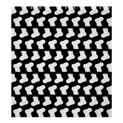 Black And White Cute Baby Socks Illustration Pattern Shower Curtain 66  x 72  (Large)