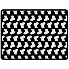 Black And White Cute Baby Socks Illustration Pattern Fleece Blanket (Large)
