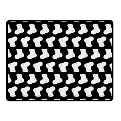 Black And White Cute Baby Socks Illustration Pattern Fleece Blanket (Small)