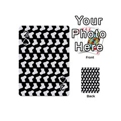 Black And White Cute Baby Socks Illustration Pattern Playing Cards 54 (Mini)