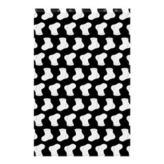 Black And White Cute Baby Socks Illustration Pattern Shower Curtain 48  x 72  (Small)