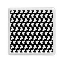 Black And White Cute Baby Socks Illustration Pattern Memory Card Reader (Square)