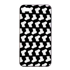 Black And White Cute Baby Socks Illustration Pattern Apple iPhone 4/4s Seamless Case (Black)