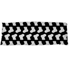 Black And White Cute Baby Socks Illustration Pattern Body Pillow Cases (dakimakura)