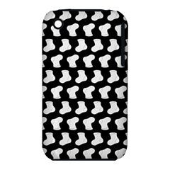 Black And White Cute Baby Socks Illustration Pattern Apple Iphone 3g/3gs Hardshell Case (pc+silicone)