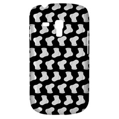 Black And White Cute Baby Socks Illustration Pattern Samsung Galaxy S3 Mini I8190 Hardshell Case