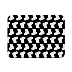 Black And White Cute Baby Socks Illustration Pattern Double Sided Flano Blanket (Mini)