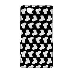 Black And White Cute Baby Socks Illustration Pattern Sony Xperia Z3 Compact