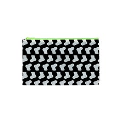 Black And White Cute Baby Socks Illustration Pattern Cosmetic Bag (xs)