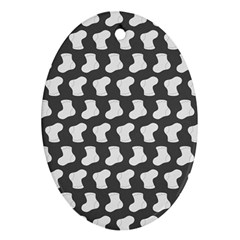 Cute Baby Socks Illustration Pattern Oval Ornament (two Sides)
