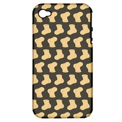 Cute Baby Socks Illustration Pattern Apple Iphone 4/4s Hardshell Case (pc+silicone)