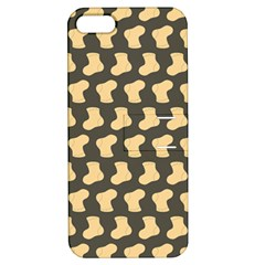 Cute Baby Socks Illustration Pattern Apple Iphone 5 Hardshell Case With Stand