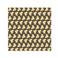 Cute Baby Socks Illustration Pattern Small Satin Scarf (Square)