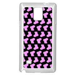 Cute Baby Socks Illustration Pattern Samsung Galaxy Note 4 Case (White)