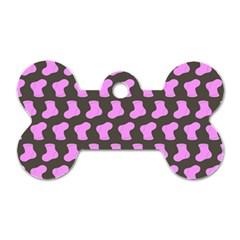 Cute Baby Socks Illustration Pattern Dog Tag Bone (one Side)