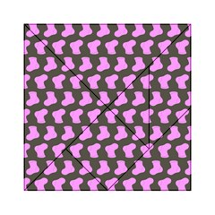 Cute Baby Socks Illustration Pattern Acrylic Tangram Puzzle (6  x 6 )