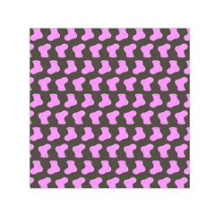 Cute Baby Socks Illustration Pattern Small Satin Scarf (square)