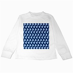 Blue Cute Baby Socks Illustration Pattern Kids Long Sleeve T-Shirts