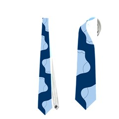 Blue Cute Baby Socks Illustration Pattern Neckties (One Side)