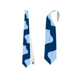 Blue Cute Baby Socks Illustration Pattern Neckties (Two Side)