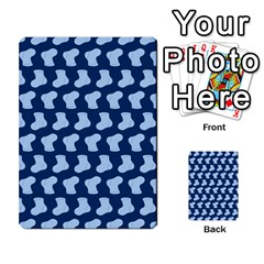 Blue Cute Baby Socks Illustration Pattern Multi-purpose Cards (Rectangle)