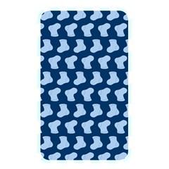Blue Cute Baby Socks Illustration Pattern Memory Card Reader