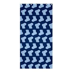 Blue Cute Baby Socks Illustration Pattern Shower Curtain 36  X 72  (stall)