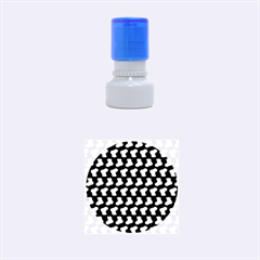 Blue Cute Baby Socks Illustration Pattern Rubber Round Stamps (small)