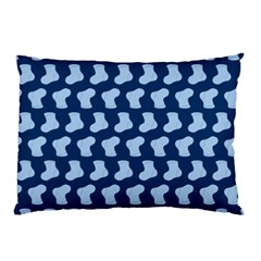 Blue Cute Baby Socks Illustration Pattern Pillow Cases (two Sides)