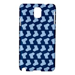 Blue Cute Baby Socks Illustration Pattern Samsung Galaxy Note 3 N9005 Hardshell Case