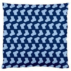 Blue Cute Baby Socks Illustration Pattern Large Flano Cushion Cases (two Sides)