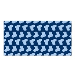 Blue Cute Baby Socks Illustration Pattern Satin Shawl