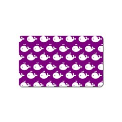 Cute Whale Illustration Pattern Magnet (name Card)