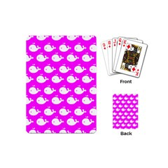 Cute Whale Illustration Pattern Playing Cards (mini)