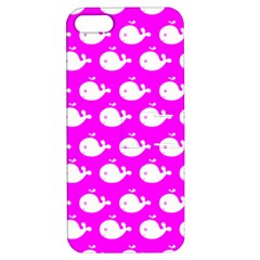 Cute Whale Illustration Pattern Apple Iphone 5 Hardshell Case With Stand