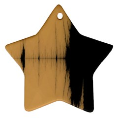 Sunset Black Ornament (Star)